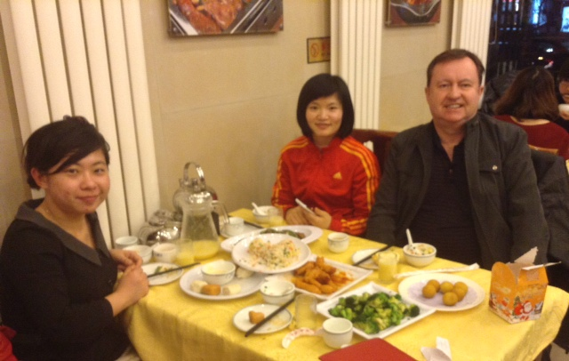 Colin Speakman with CAPA China colleagues at end of year Dinner 2013