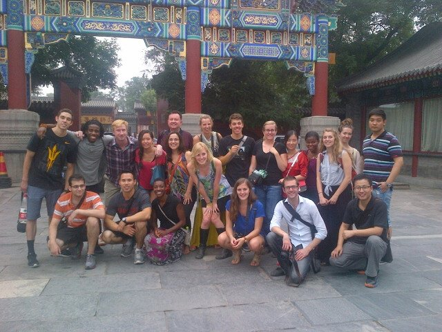 CAPA group in Beijing on MyEducation event to Lama Temple by Colin Speakman
