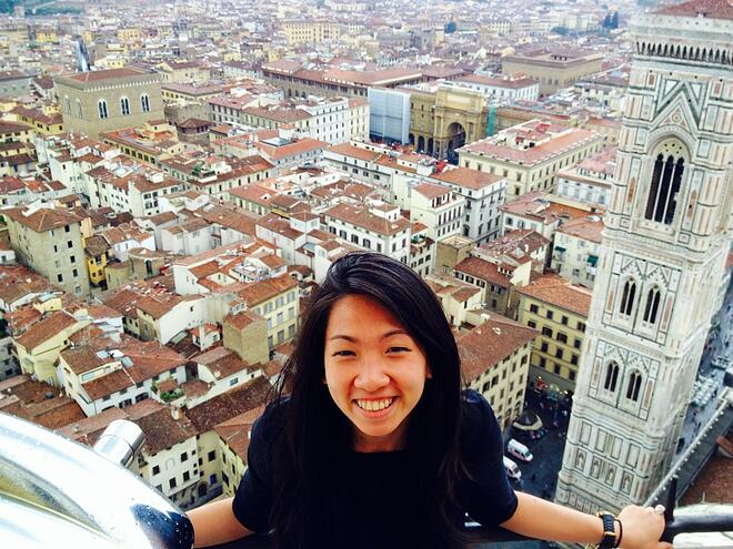 CAPAStudyAbroad_Florence_Dee Liang climbed to top of Duomo