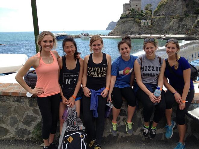 CAPAStudyAbroad_Florence_CAPA crew after hiking Cinque Terre from Dee Liang