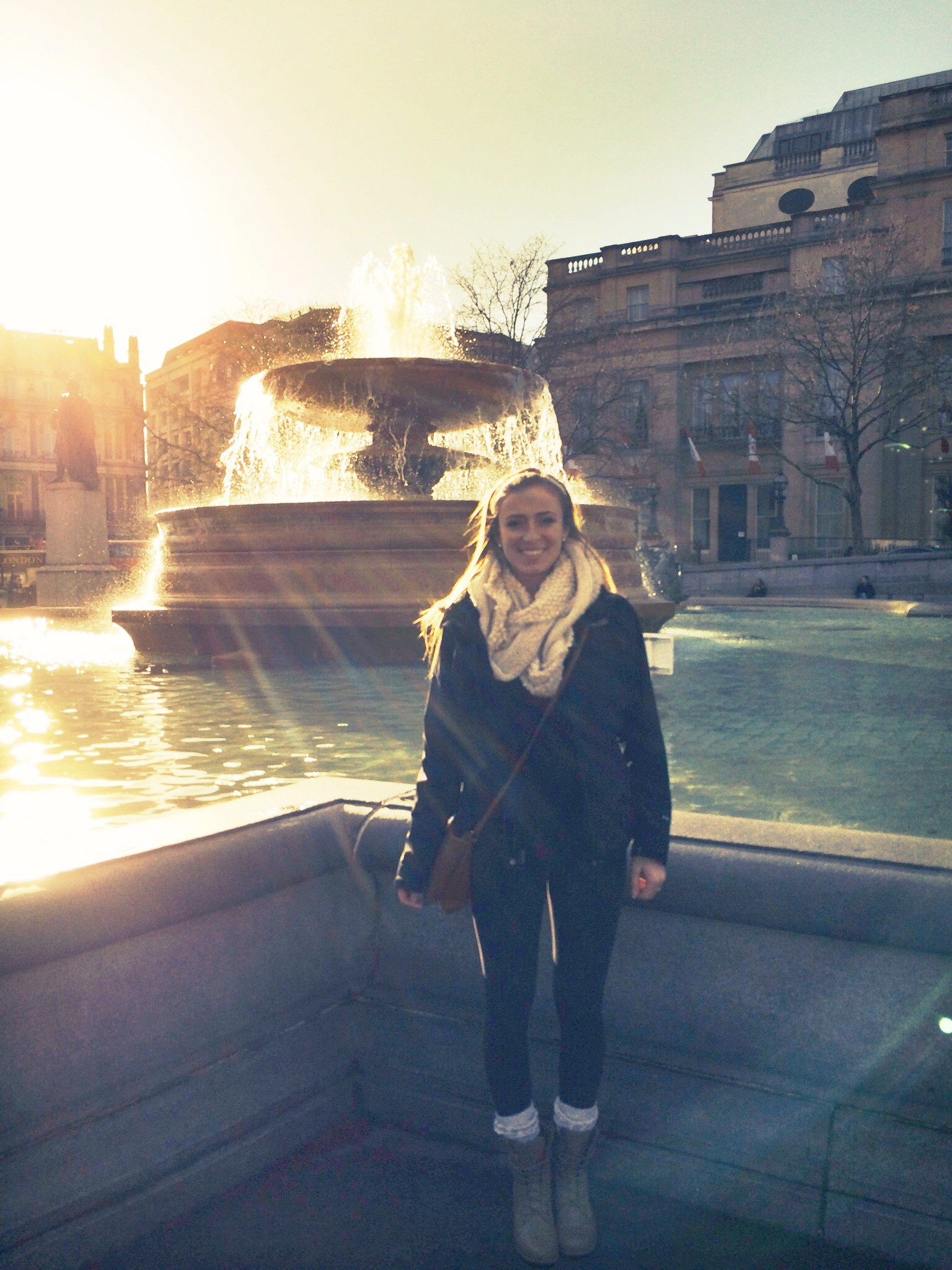 CAPAStudyAbroad_London_Spring2014_Sophia_Love_at_Trafalgar_Square