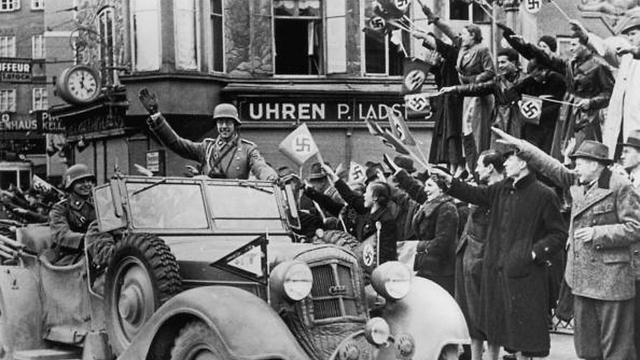 Austrian Citizens Welcome Nazi Troops