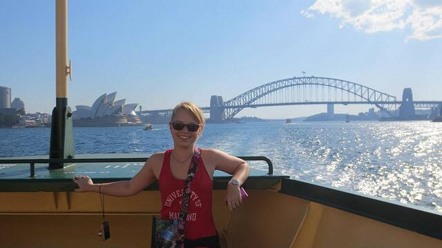 CAPAStudyAbroad_Sydney_Fall2013_Kristen Geatz - Kristen by the Sydney Harbor