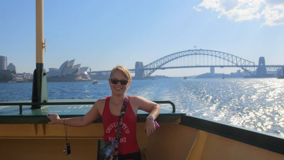 CAPAStudyAbroad_Sydney_Fall2013_Kristen Geatz - Kristen by the Sydney Harbor