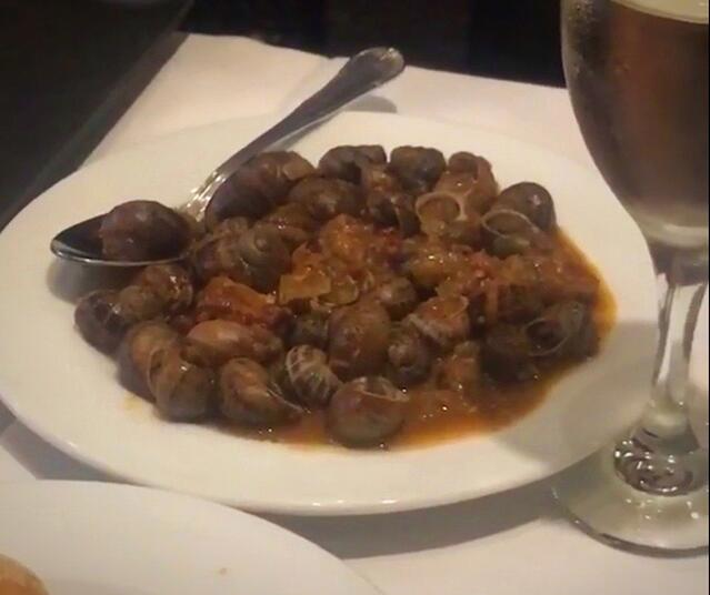 Snails at Los Caracoles!