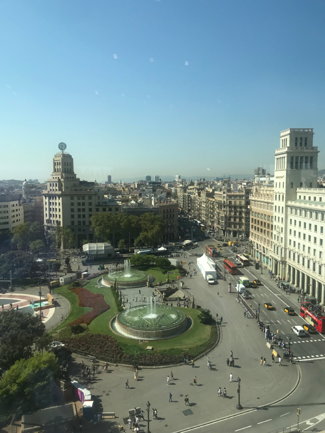 View of Barcelona from Il Corte Ingles