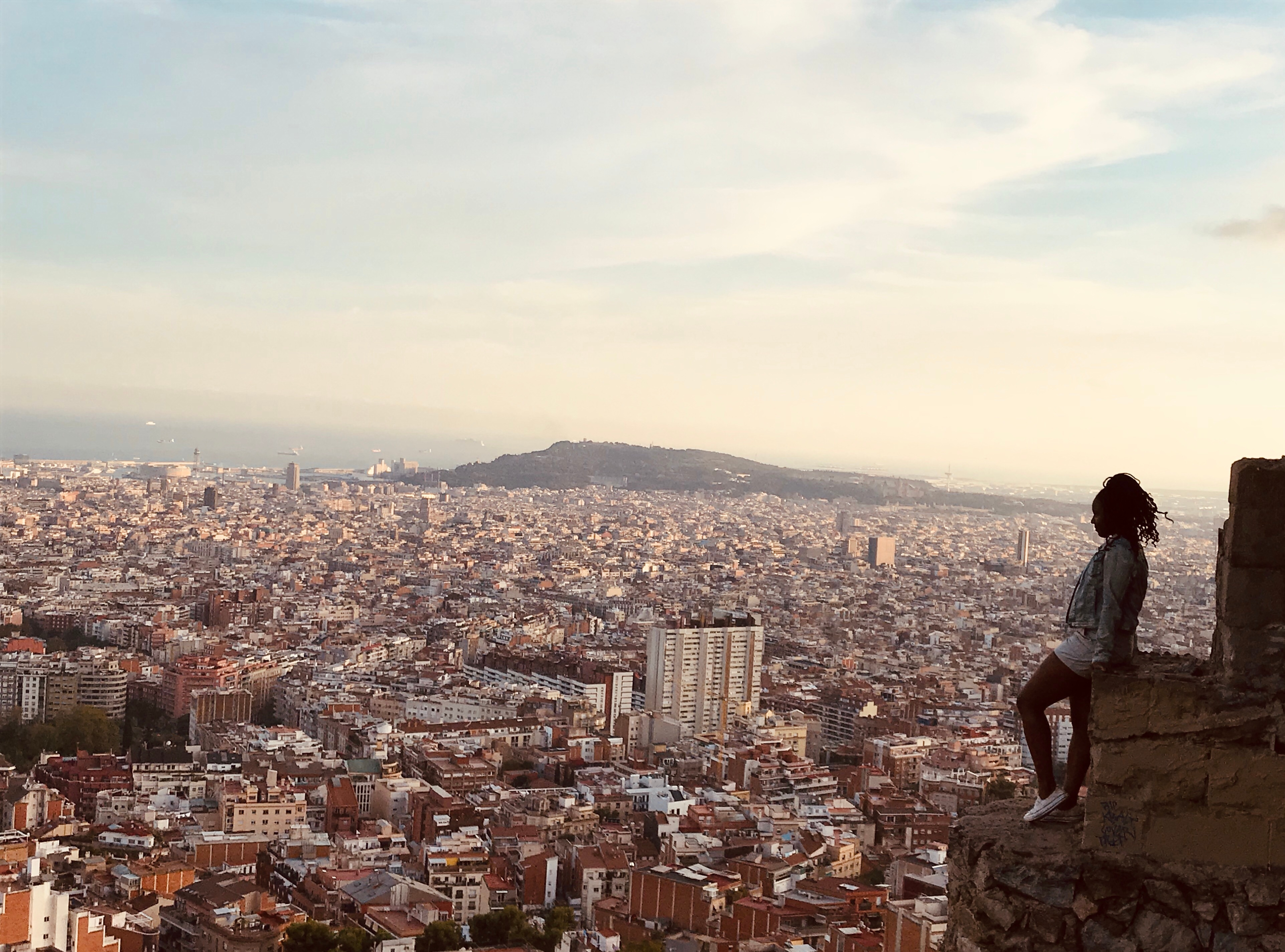 Maya Crawford with Scenic View of Barcelona