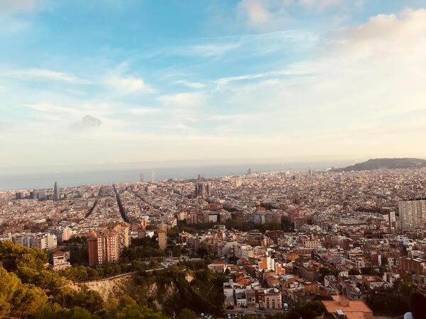 An overview of the city of Barcelona.