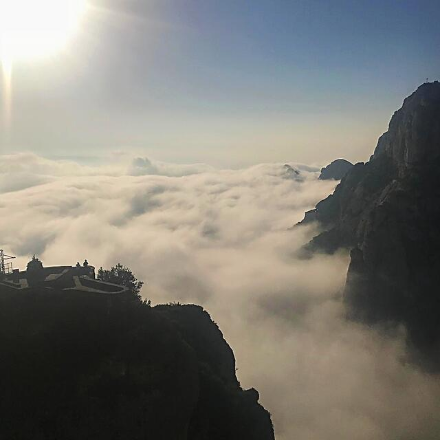 Above the Clouds at Montserrat