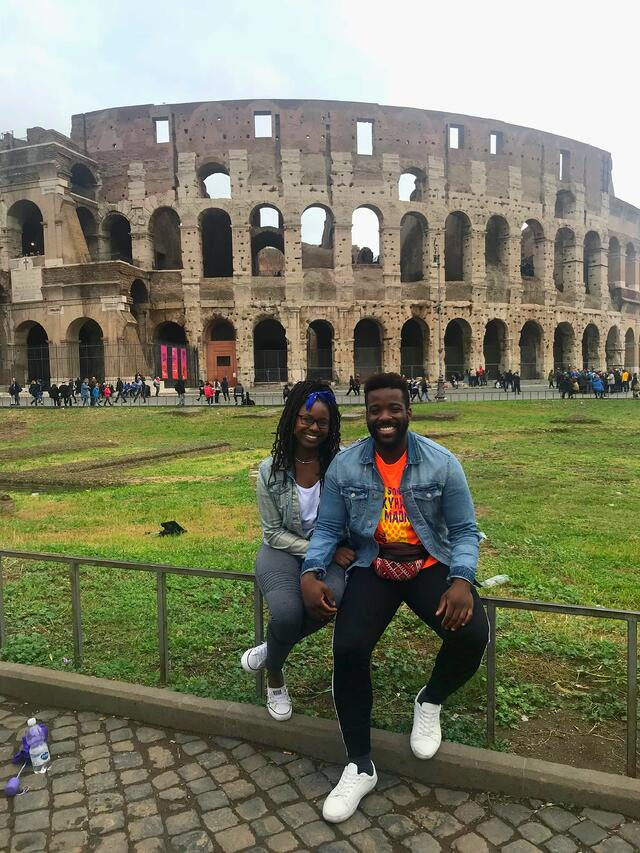 My boyfriend and I at the Colosseum