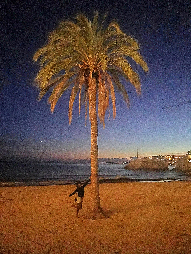 One of the many beautiful beaches in Palma, Mallorca