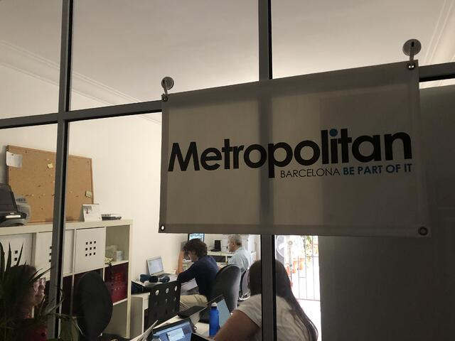 CAPAStudyAbroad_Fall 2019_Barcelona_Isha Mahajan_The office of the Metropolitan Magazine located at Carrer De Valencia