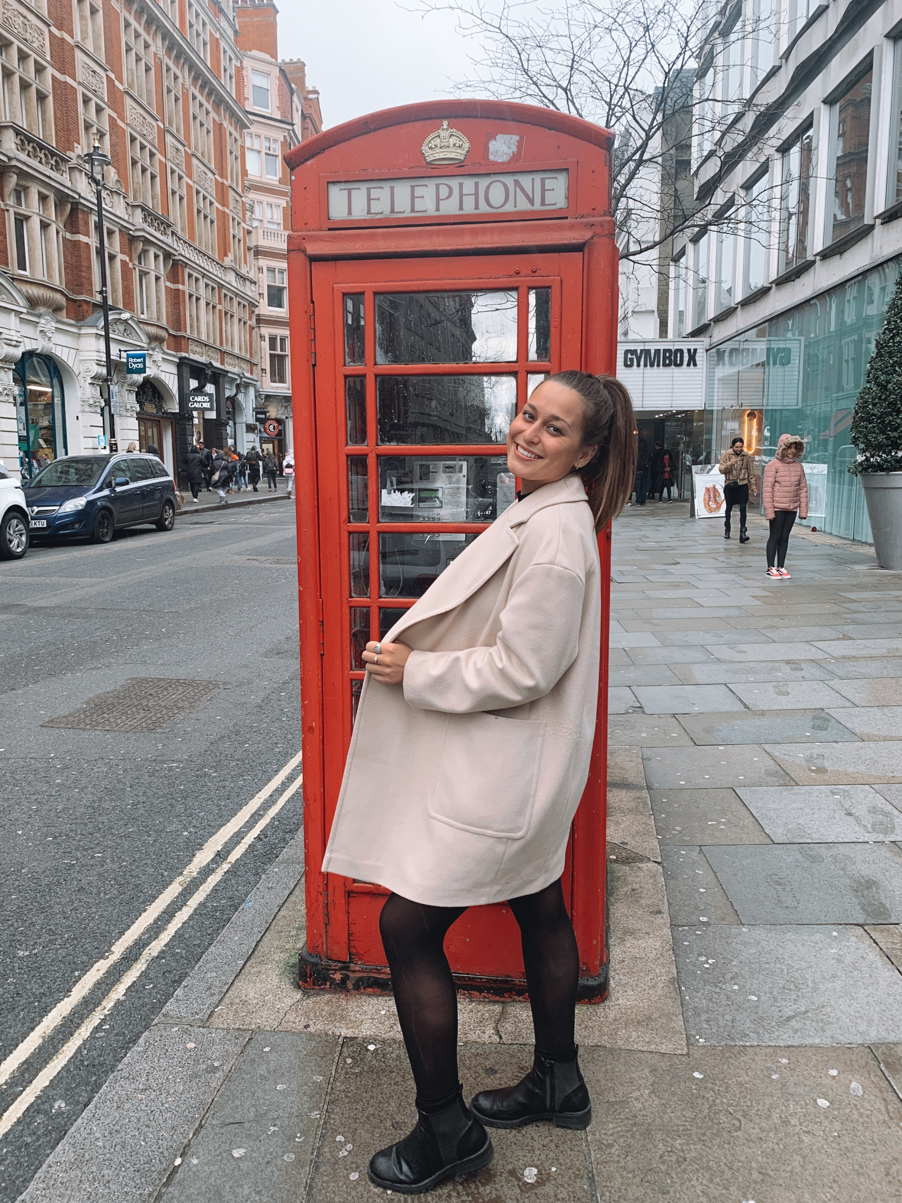 Classic telephone booth shot in London