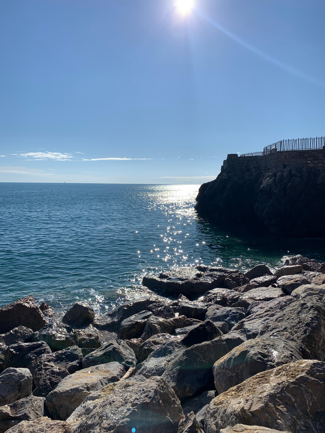 Glistening body of water in Sète, France
