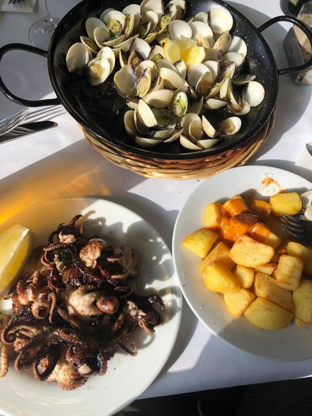 Baby Octopus food dish.