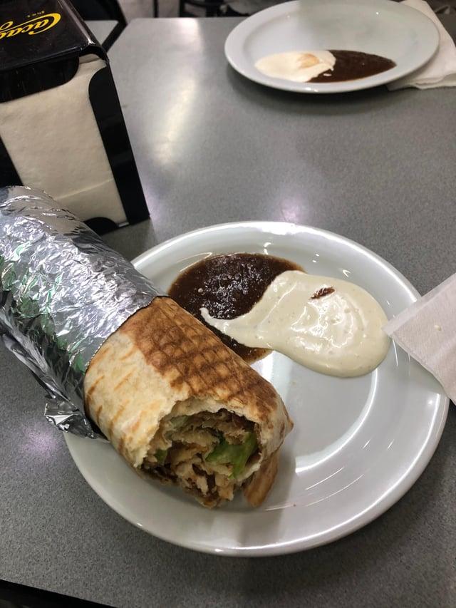 Durum Kebab Turkish meat wrap.