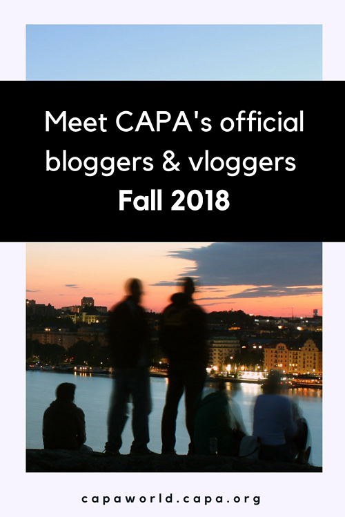 Meet CAPA's official bloggers & vloggers for Fall 2018