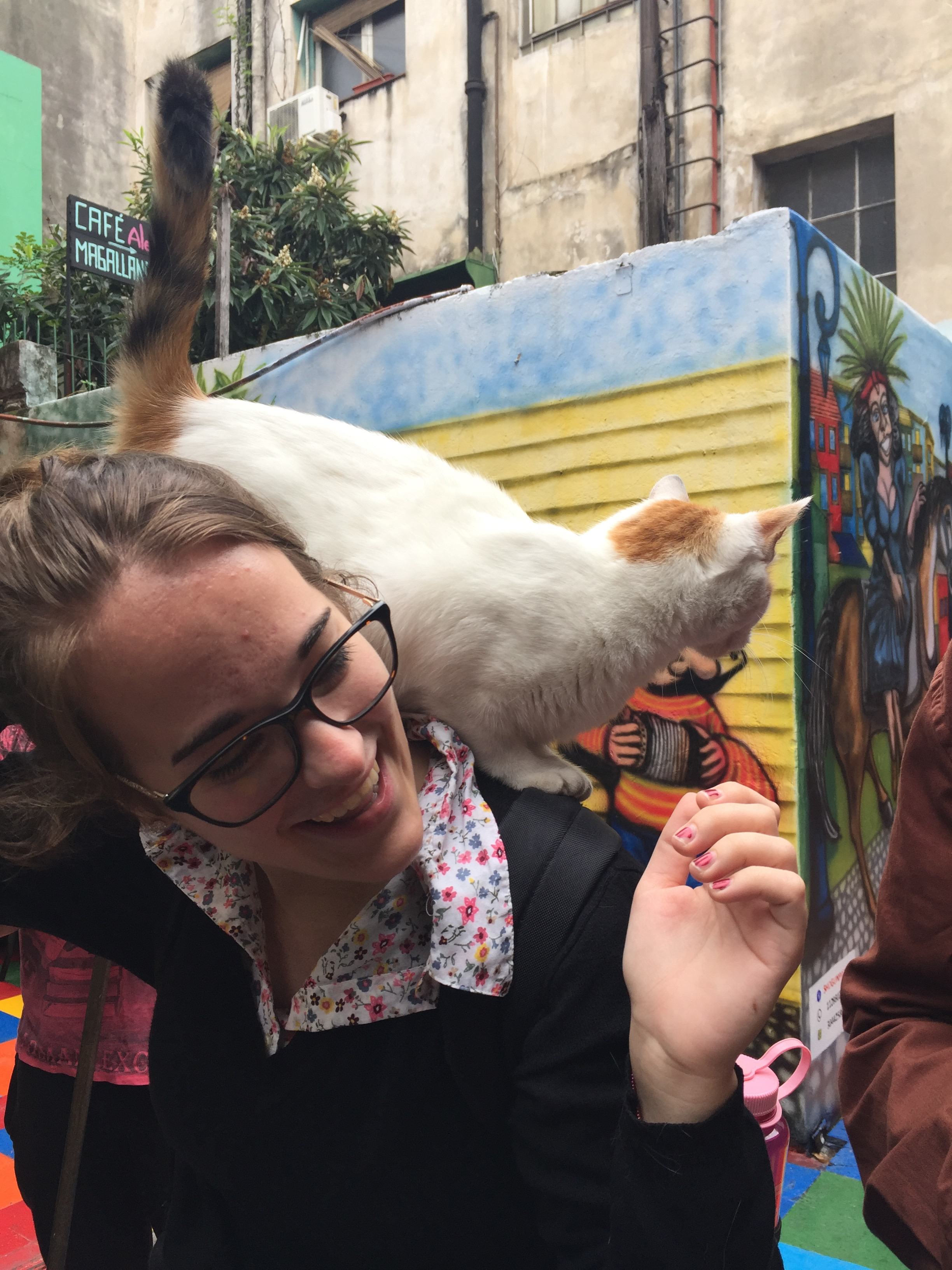 CAPAStudyAbroad_Buenos Aires_Spring2018_From Claire Shrader - Claire with Bianca the Friendly Cat
