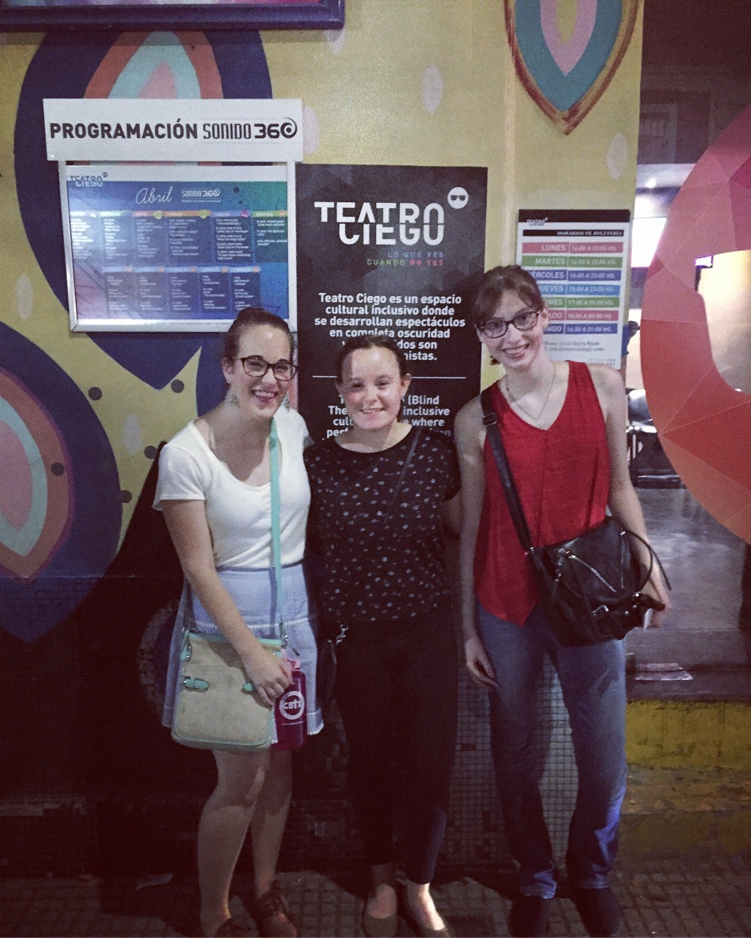 CAPAStudyAbroad_Buenos Aires_Spring2018_From Claire Shrader - Fun night with these friends at Teatro Ciego