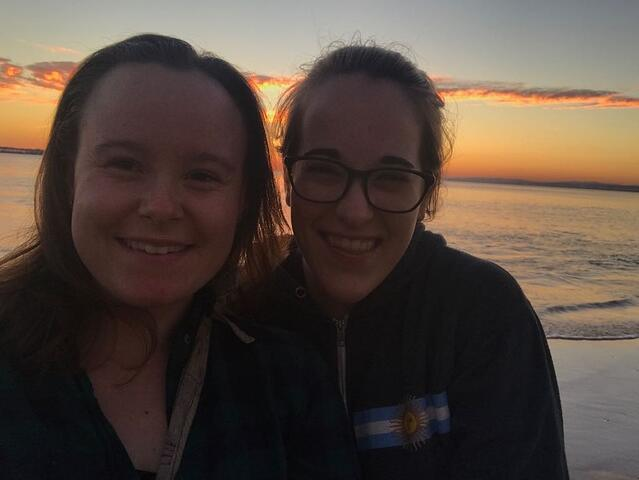 CAPAStudyAbroad_Buenos Aires_Spring2018_From Claire Shrader - Sunset in Uruguay with a Friend