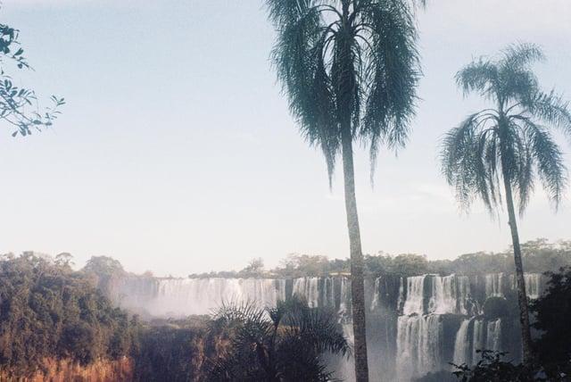 A Scene from Iguazu Falls from a Film Camera
