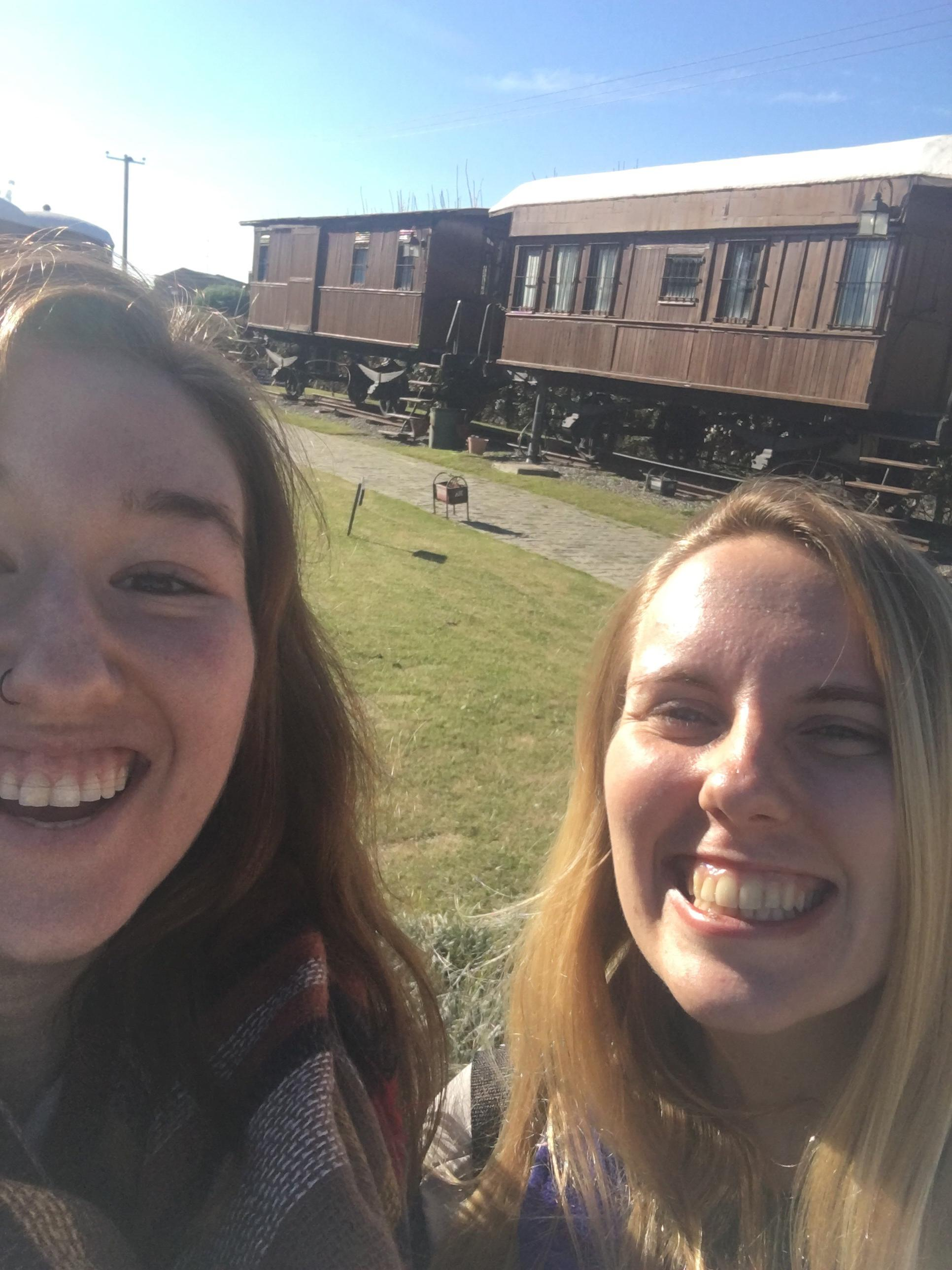 At the Transit Museum in Uruguay with Megan