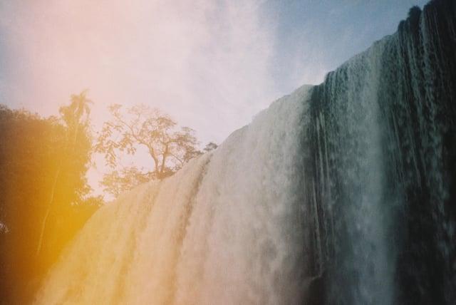Film Flare at Iguazu Falls