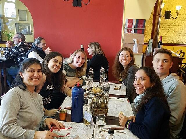 Lunch at Colonia Sacramento with Friends and Homestay Family