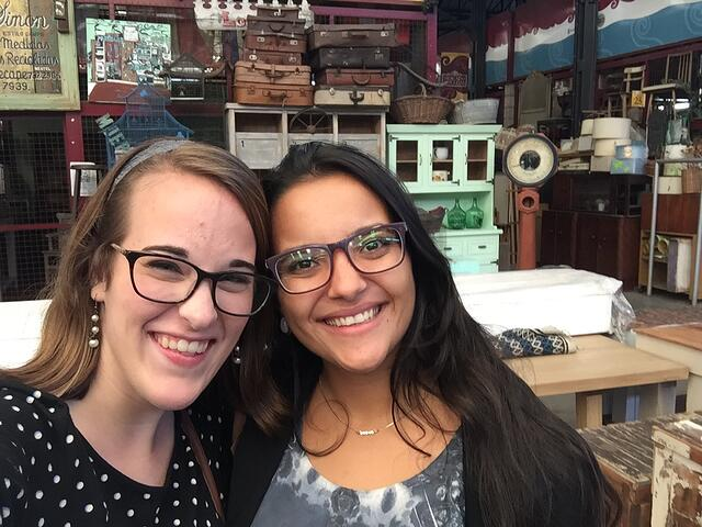 CAPAStudyAbroad_Spring2018_Buenos Aires_Claire Shrader_My friend and I at El Mercado de las Pulgas