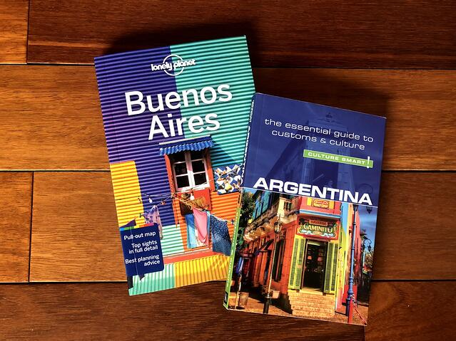 Guidebooks for a trip to Argentina and Buenos Aires