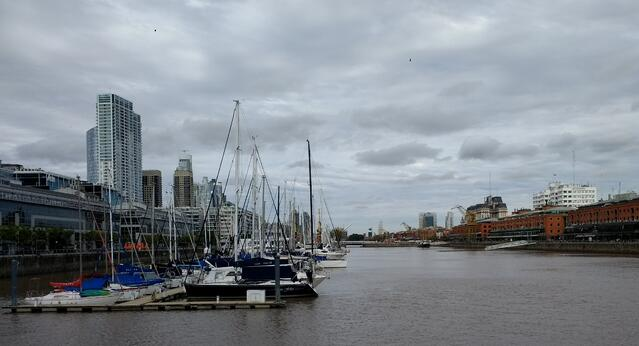 A port in Buenos Aires.