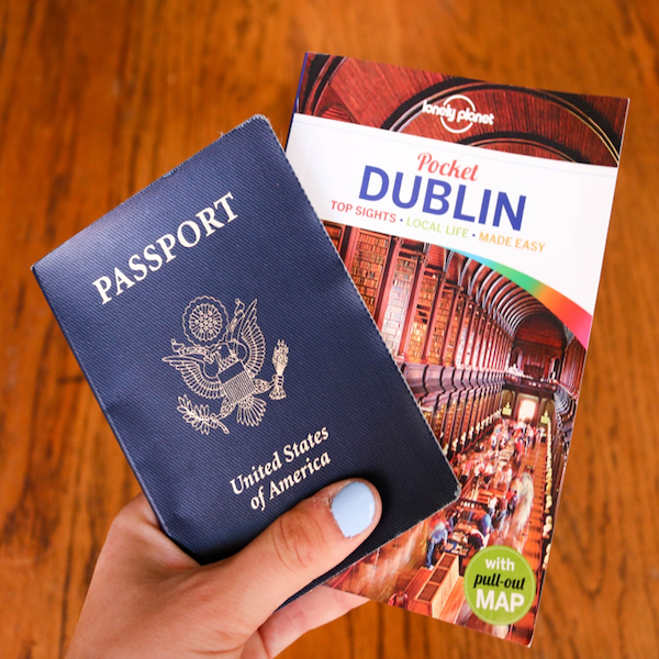 CAPAStudyAbroad_Dublin_Fall2018_From Jessica Kisluk - Passport and Dublin book