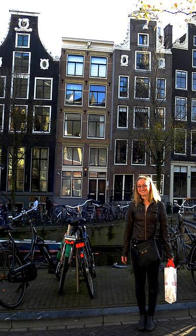 CAPAStudyAbroad_Dublin_Fall_2014_Samantha_Gauvain_in_Amsterdam