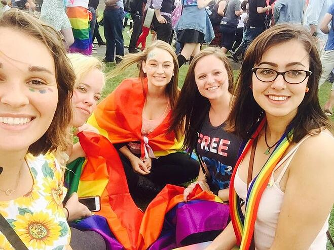 CAPAStudyAbroad_Dublin_Summer2015_From_Hania_Powell_-_Pride_post_-_CAPA_students_at_Pride_Village