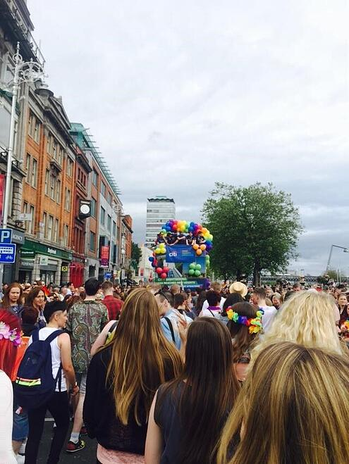 CAPAStudyAbroad_Dublin_Summer2015_From_Hania_Powell_-_Pride_post_-_CAPA_students_marching_in_Pride_parade