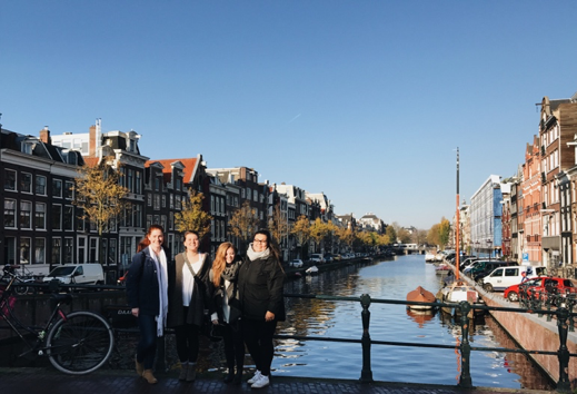 CAPAStudyAbroad_Fall2017_Dublin_From Elizabeth Leahy - Fall Break_With Friends on Canal Bridge in Amsterdam.png