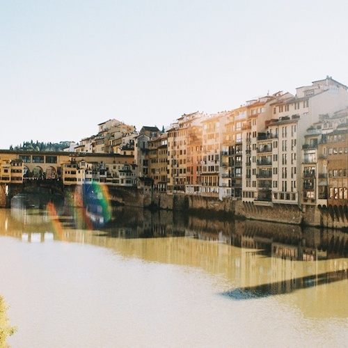 CAPAStudyAbroad_Florence_Fall2018_Payton Meyer_Sunny shot of Ponte Vecchio_35 mm film