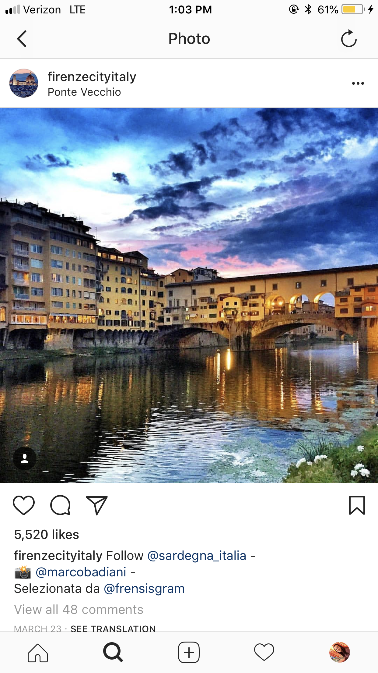 CAPAStudyAbroad_Florence_From Emily Kearns - instagram5