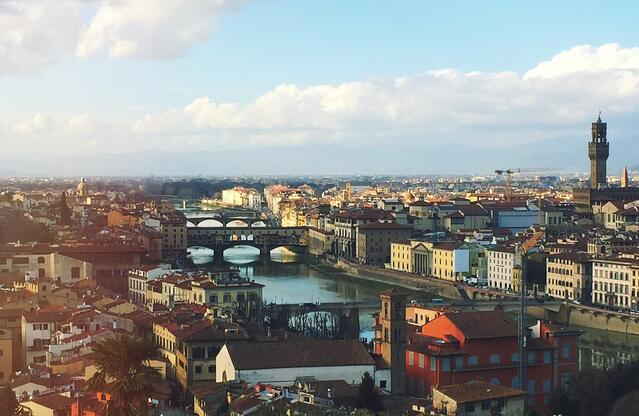 Looking over Florence from Piazzale Michelangelo