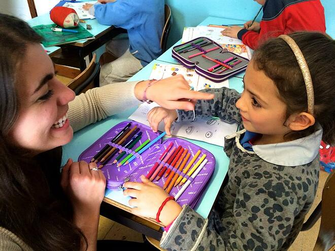 CAPAStudyAbroad_Florence_Spring2015_From_Claire_France_-_volunteering_in_an_elementary_school