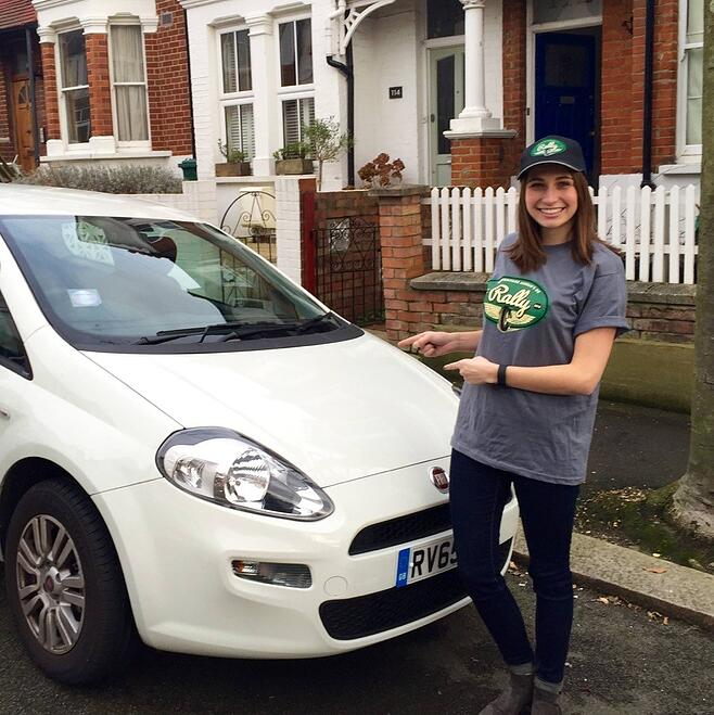 CAPAStudyAbroad_London_Intern_SecretPillowProject_Katy_Putzker_in_her_Rally_Kit._Katy_did_all_the_ticket_management_for_our_130_person_annual_car_and_bike_rally..jpg