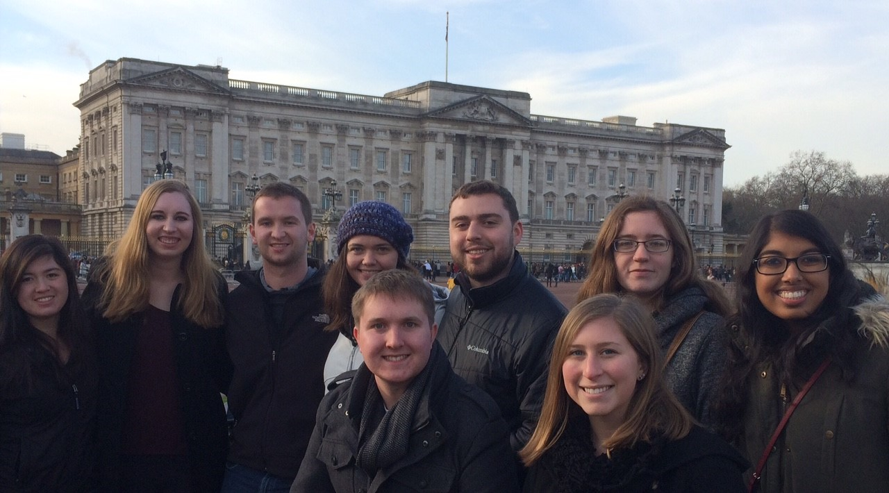 CAPAStudyAbroad_London_Spring2016_From_Samson_Cassel_Nucci_-_Buckingham_Palace_North_End_Road_Group.jpg