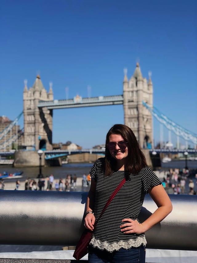 CAPAStudyAbroad_London_Summer2018_From Alexandra Zurbrick - in front of Tower Bridge