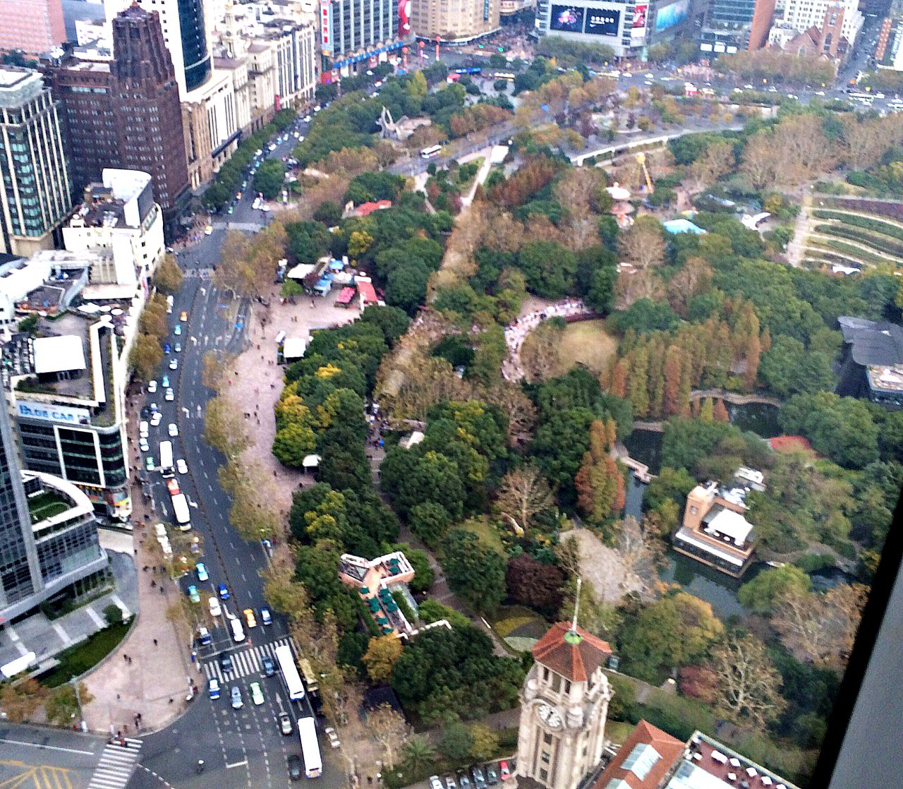 CAPAStudyAbroad_ShanghaiWalksPost_-_Ariel_View_of_Nanjing_Road_with_Park_Hotel