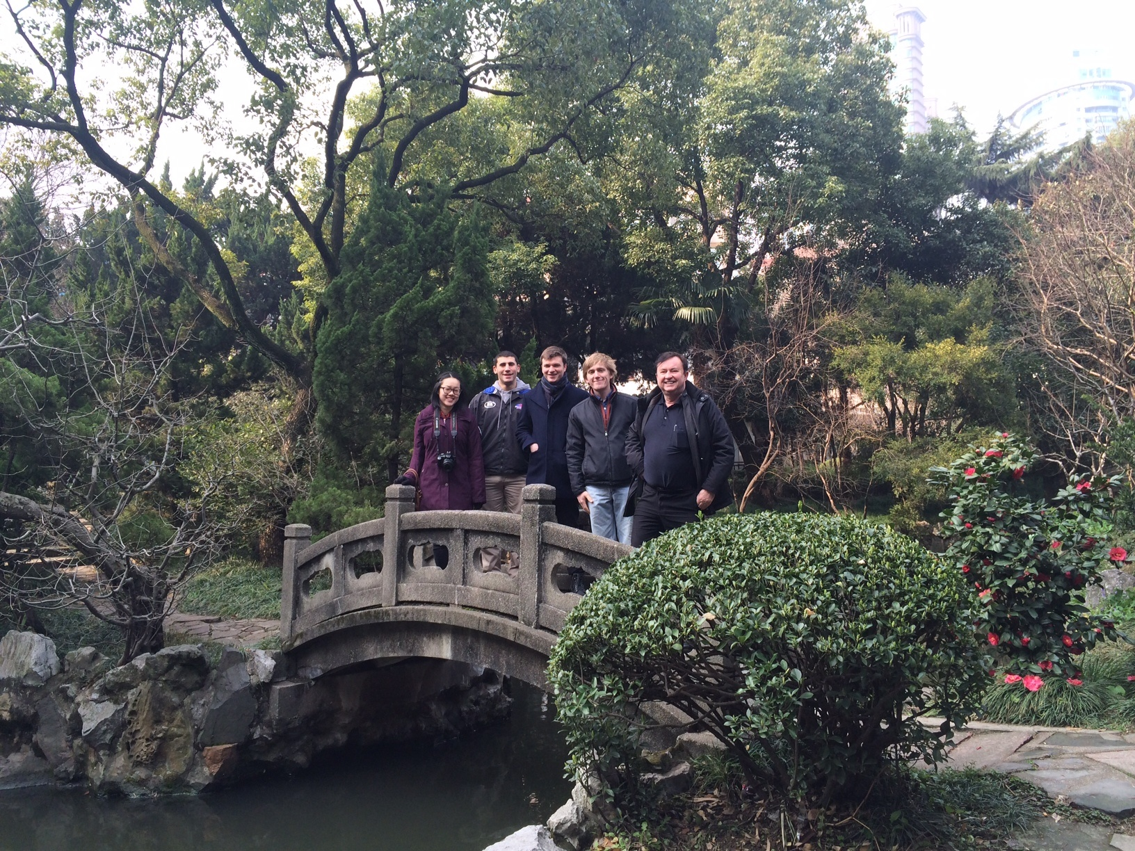 CAPAStudyAbroad_ShanghaiWalksPost_-_CAPA_students_and_director_in_the_Huashan_Hospital_gardens