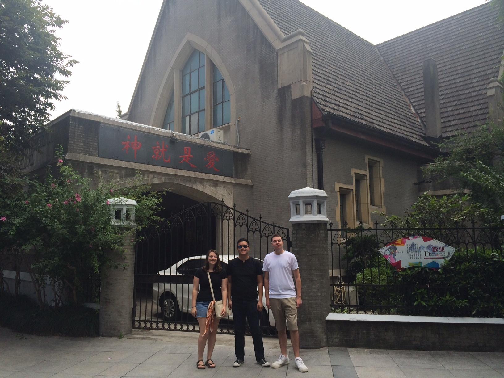 CAPAStudyAbroad_Shanghai_Fall2015_group_outside_of_church