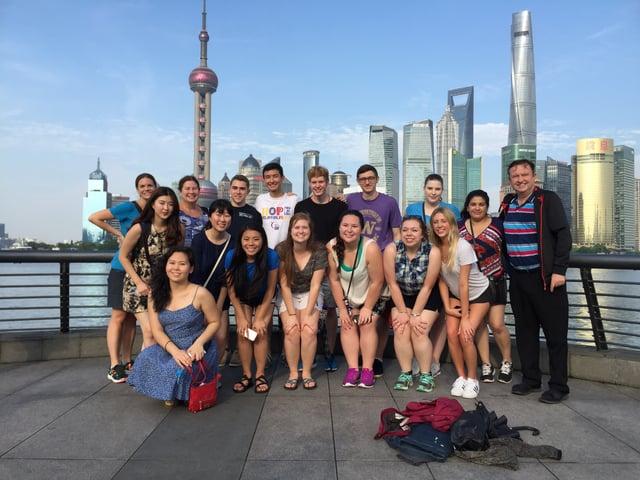 CAPAStudyAbroad_Shanghai_Summer2017_From Colin Speakman Students and Skyline.jpg