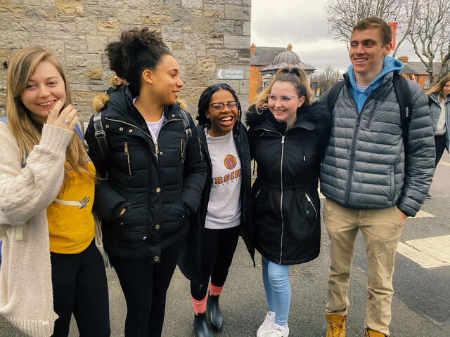 CAPAStudyAbroad_Spring 2020 Dublin_Students Hanging out on Griffith College