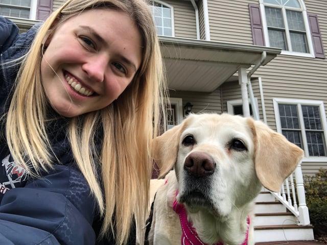 Rachel Long Hangs with her Dog