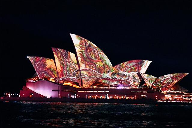 CAPAStudyAbroad_Spring2019_Sydney_George Muirhead_opera house at night